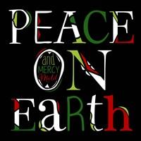 Peace on Earth on Black Fine Art Print
