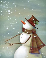 Christmas Magic Snowman Fine Art Print