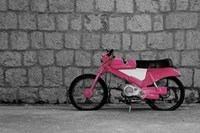 Pop of Color Pink Motorcycle Fine Art Print