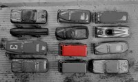 Pop of Color Old Toy Cars Fine Art Print
