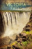 Vintage Victoria Falls, Livingstone, Africa Fine Art Print