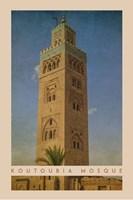 Vintage Koutoubia Mosque, Marrakesh, Morocco, Africa Fine Art Print