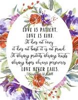 1 Corinthians 13 4, 7-8 Fine Art Print