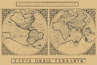 Mercator's World Map, 1524 Fine Art Print