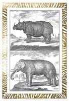 Gilded Safari I - Metallic Foil Fine Art Print