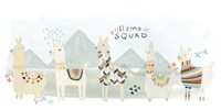 Llama Squad III Fine Art Print