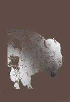 Silver Foil Buffalo on Bitter Chocolate Fine Art Print