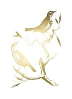 Gold Foil Birds I Fine Art Print