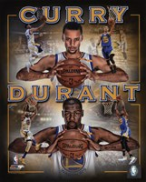 Stephen Curry & Kevin Durant 2016 Portrait Plus Fine Art Print