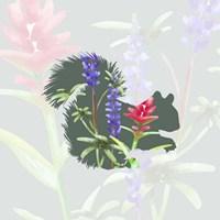Green Floral Squirrel Fine Art Print