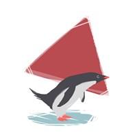 Minimalist Penguin, Boys Part III Fine Art Print