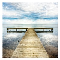 Staring Down the Pier Fine Art Print