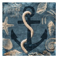 Anchor Blue Fine Art Print