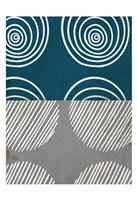 Teal Shapes 1 Fine Art Print
