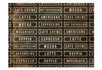 Coffee List Fine Art Print
