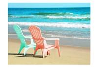 Adirondak Chairs on the beach Fine Art Print