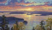 Sunset Over The San Juan Islands Fine Art Print