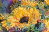 Blue Sunflowers Fine Art Print