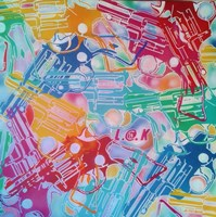 Abstract Pop Guns Fine Art Print