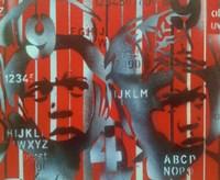 Boxer V Alphabet Fine Art Print