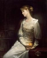 Pensive Lady Fine Art Print