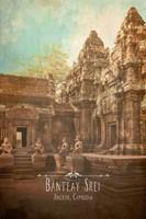 Vintage Banteay Srei, Cambodia, Asia Fine Art Print