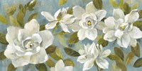 Gardenias on Slate Blue Fine Art Print
