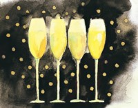 Bubbly Fun Black and Gold Fine Art Print