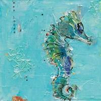 Little Seahorse Blue Fine Art Print