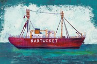 Nantucket Lightship Blue Green Fine Art Print