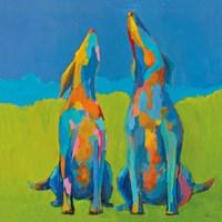 Howling Hounds Fine Art Print
