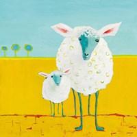Mama and Baby Sheep Fine Art Print