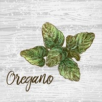 Oregano on Wood Fine Art Print