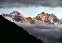 Nepal, Sagarmatha NP, Mt Everest, Lotse and Nuptse Fine Art Print