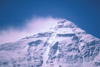 Snowy Summit of Mt Everest, Tibet, China Fine Art Print