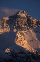 Mt Everest at Sunset From Rongbuk, Tibet Fine Art Print