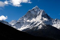 Peak of Ama Dablam Mountain, Nepal Fine Art Print