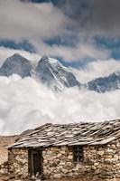 Stone hut, Khumbu Valley, Nepal Fine Art Print