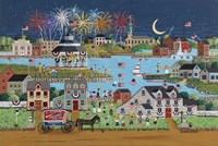 Fireworks Over Coe Lake Fine Art Print