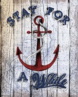 Stay Anchor Fine Art Print
