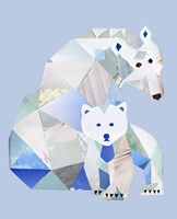 Polar Bears Gray Fine Art Print