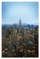 New York View by Night Fine Art Print