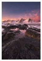 Flakstad Fjord Fine Art Print