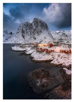 Red Cottages of Hamnoy Fine Art Print
