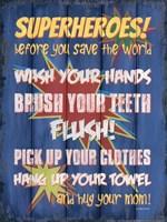 Superheroes Bath II Fine Art Print