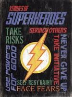 Virtues of Superheroes I Fine Art Print