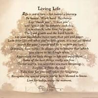 Living Life Fine Art Print