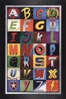 Superhero Alphabet Fine Art Print