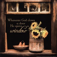 God Opens Windows Fine Art Print