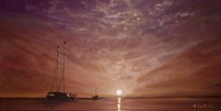 Purple Sunset Boating Fine Art Print